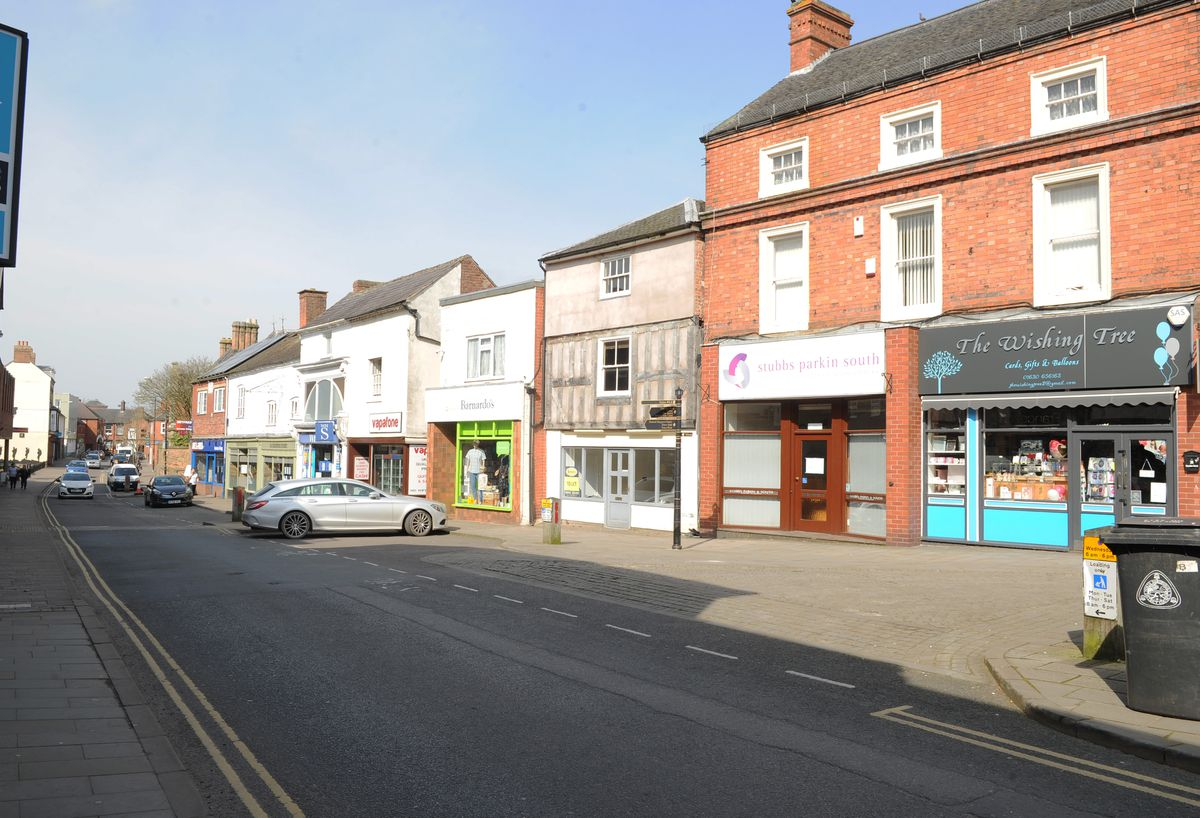 Cheshire Street, one of Market Drayton's main shopping streets
