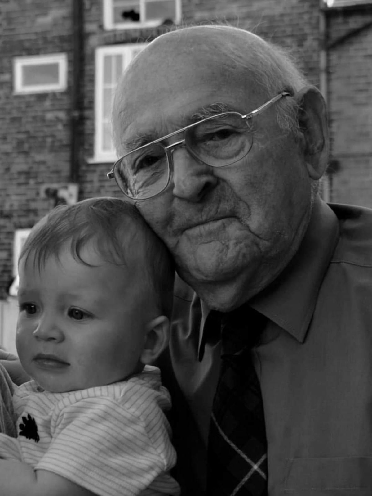 Bob Urey with great great grandson Jacques