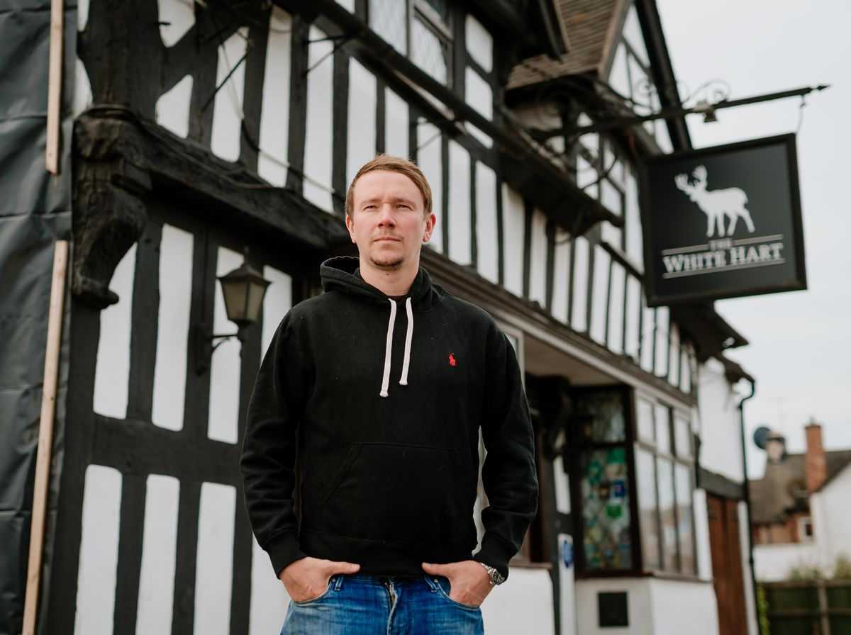 Adam Caton, owner of The White Hart Pub in Shifnal