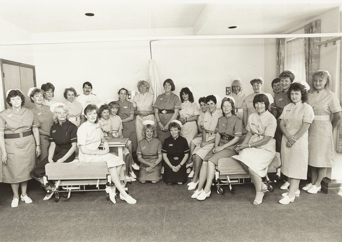 The nursing staff on their first day in 1989