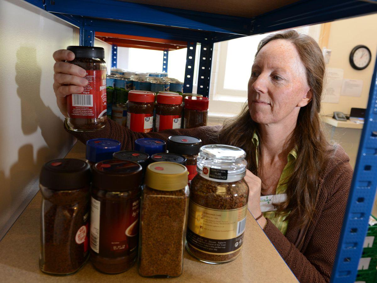 Helen McSherry, manager of Market Drayton food bank
