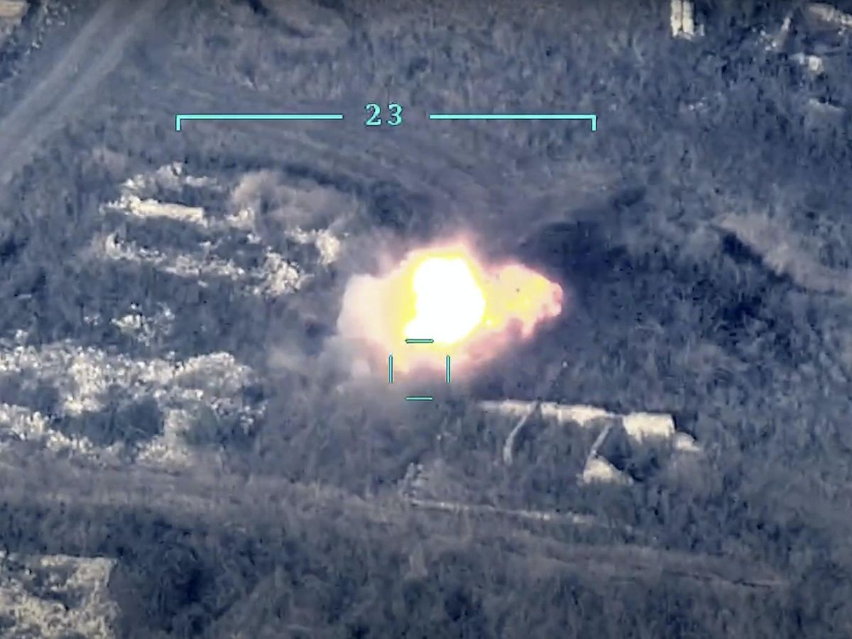 Azerbaijan's forces destroy an Armenian anti-aircraft system in Nagorno-Karabakh
