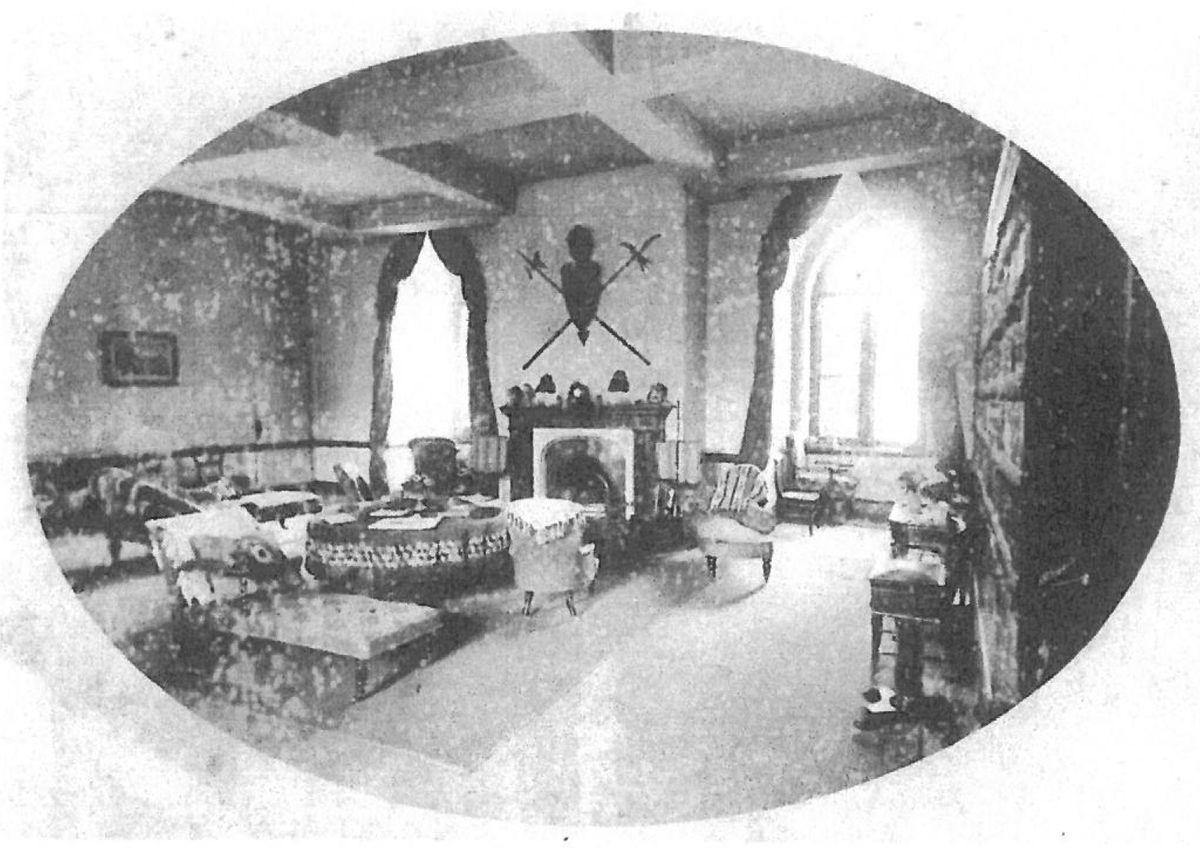 Another view of the former drawing room of Shrewsbury Castle in about 1890. Alterations in the mid 1920s erased this room. Picture: David Trumper.