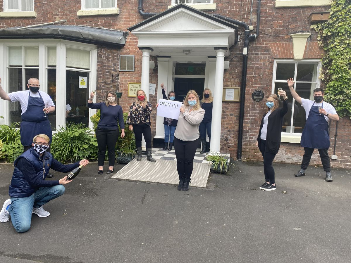 All set: Staff at the The Best Western Valley Hotel in Ironbridge