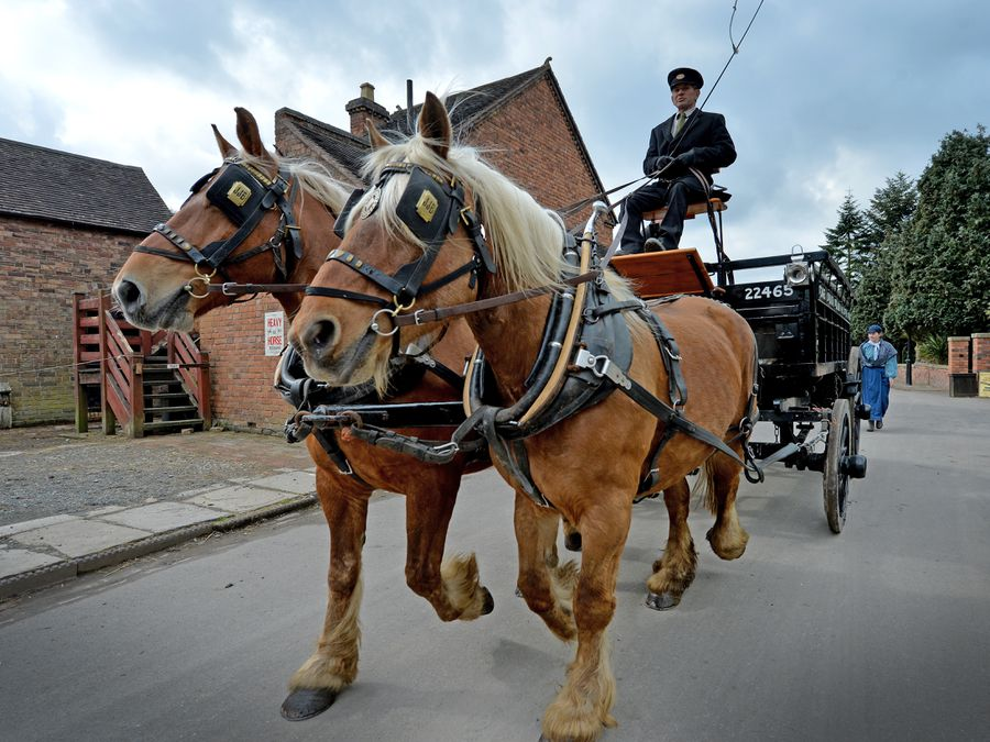Heavy horses trotted the streets of Blists Hill
