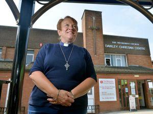 LAST COPYRIGHT SHROPSHIRE STAR STEVE LEATH 23/07/2021..Pic at Dawley Christian Centre, Methodist Church, where Deacon: Julie Morton is leaving the community..