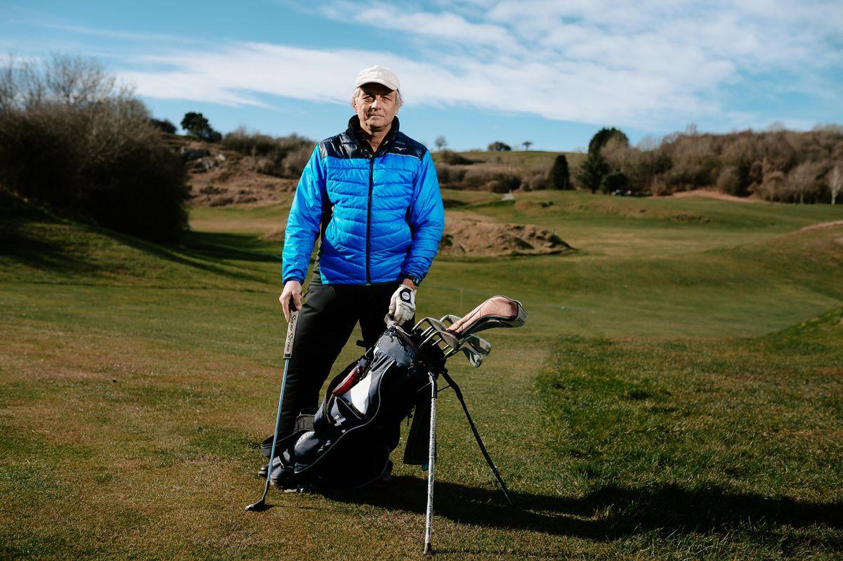 Welsh member, Satyajit Maitra on Llanymynech Golf Club