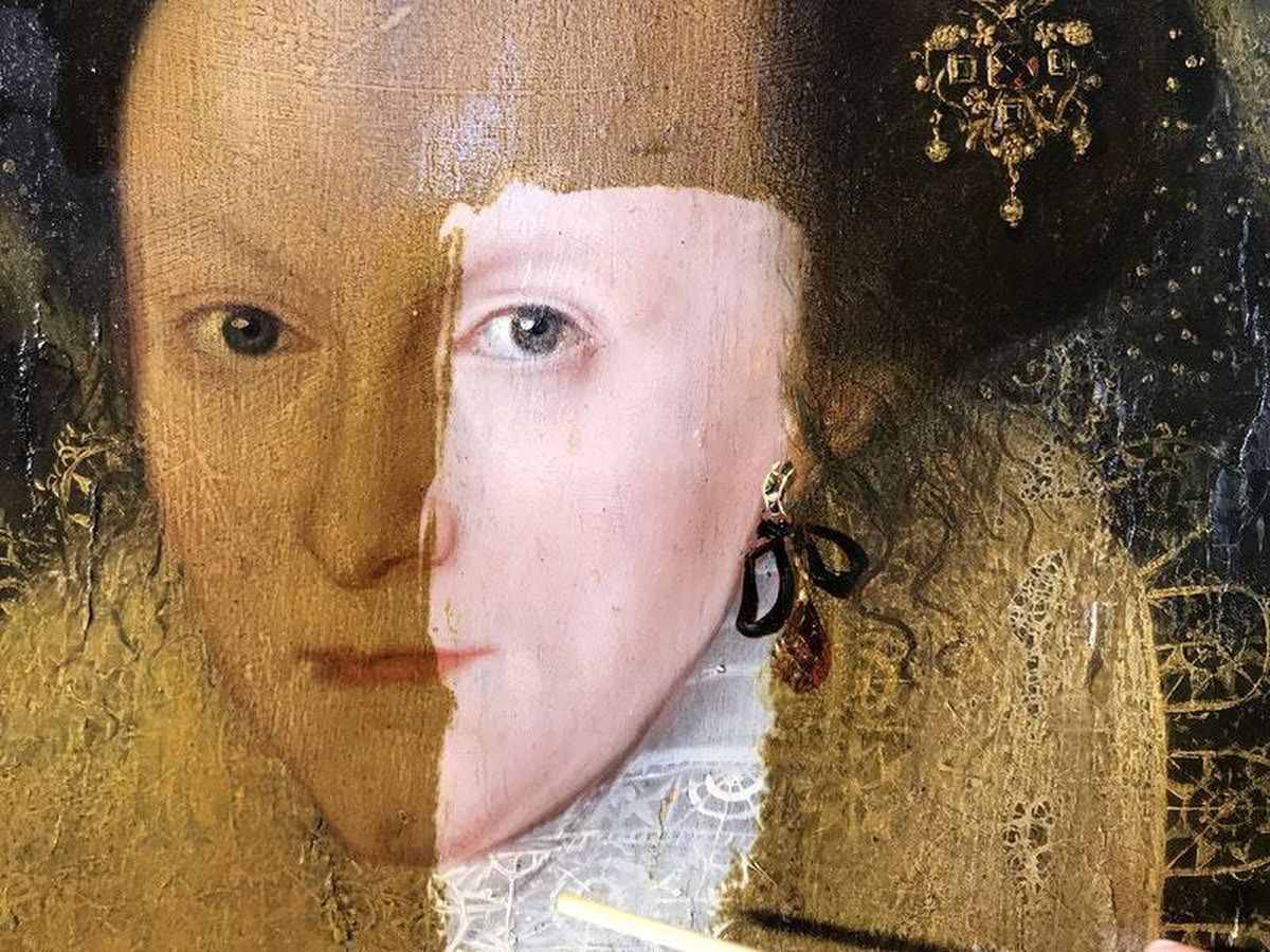 This 400-year-old painting being restored is the most satisfying thing you'll see today