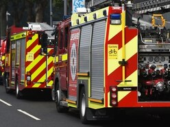 Fire crews tackle blazing roof on swimming pool at Shropshire home