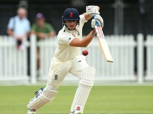 Joe Clarke playing for England Lions in 2017.