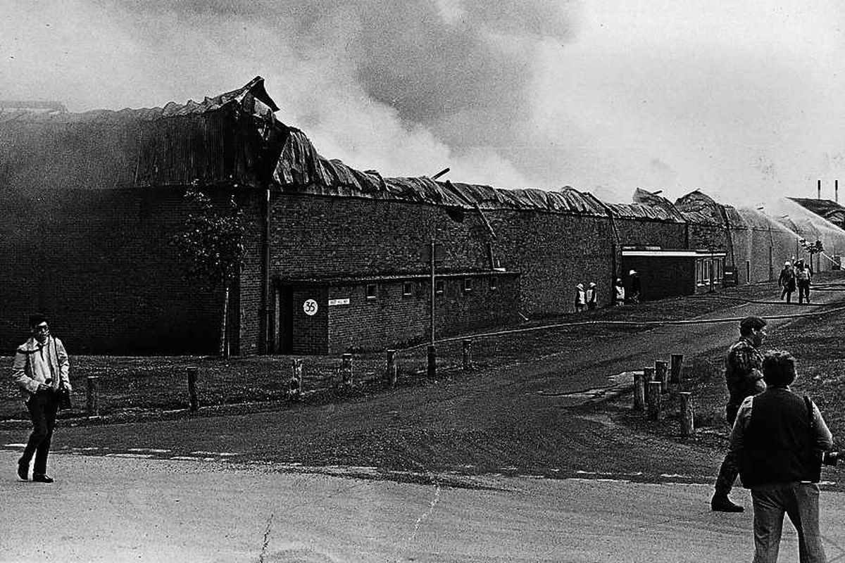 The 1983 fire left the Ministry of Defence building devastated