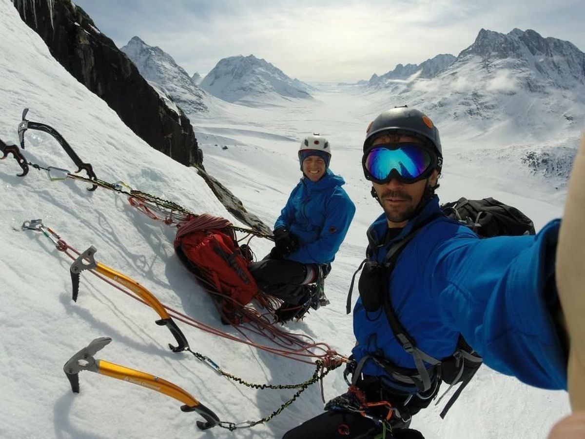 Niall and his brother Finn mountaineering in Greenland