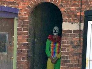 This clown was spotted outside The Marches School, Oswestry. Picture: Cole Dyke