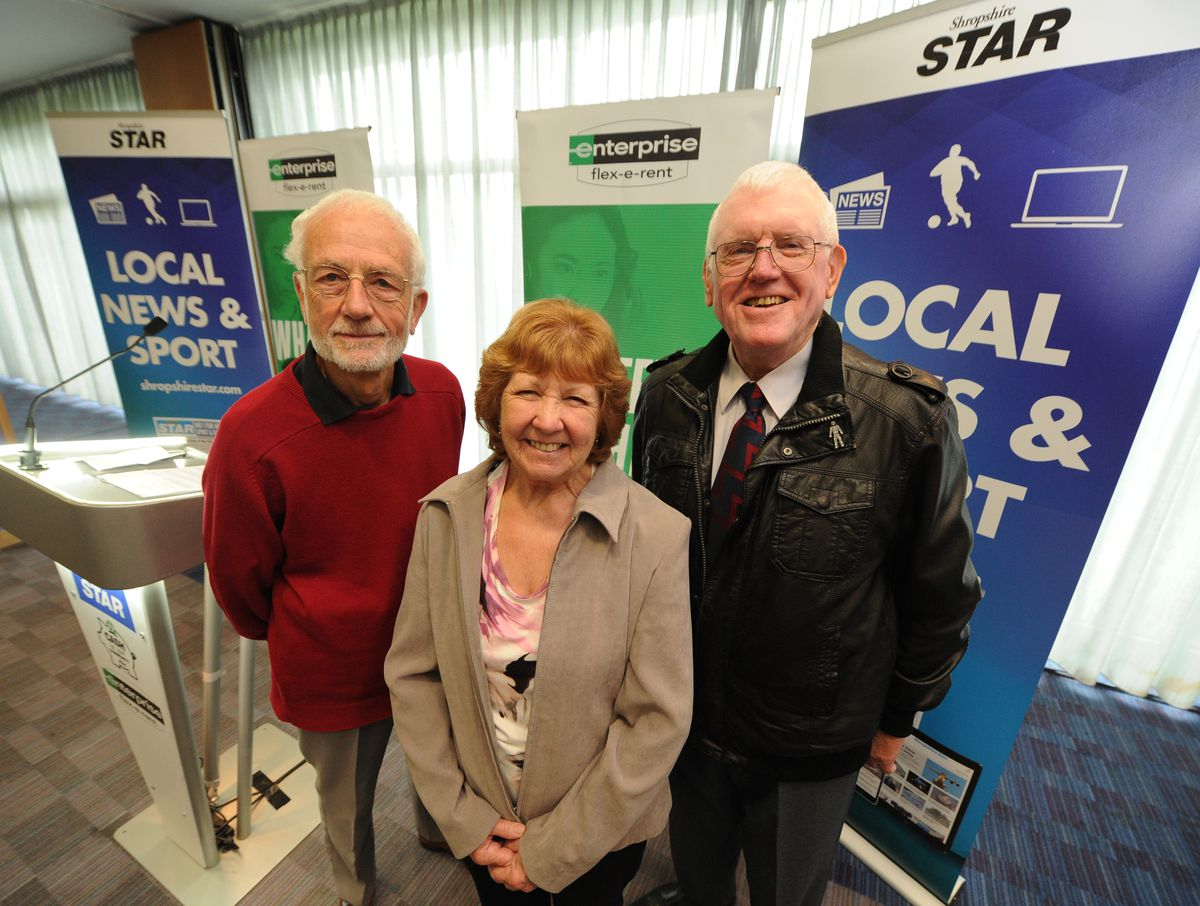 Graham Riley, Ann Lovatt, and Dennis Briggs from Shropshire Prostate Cancer Support Group