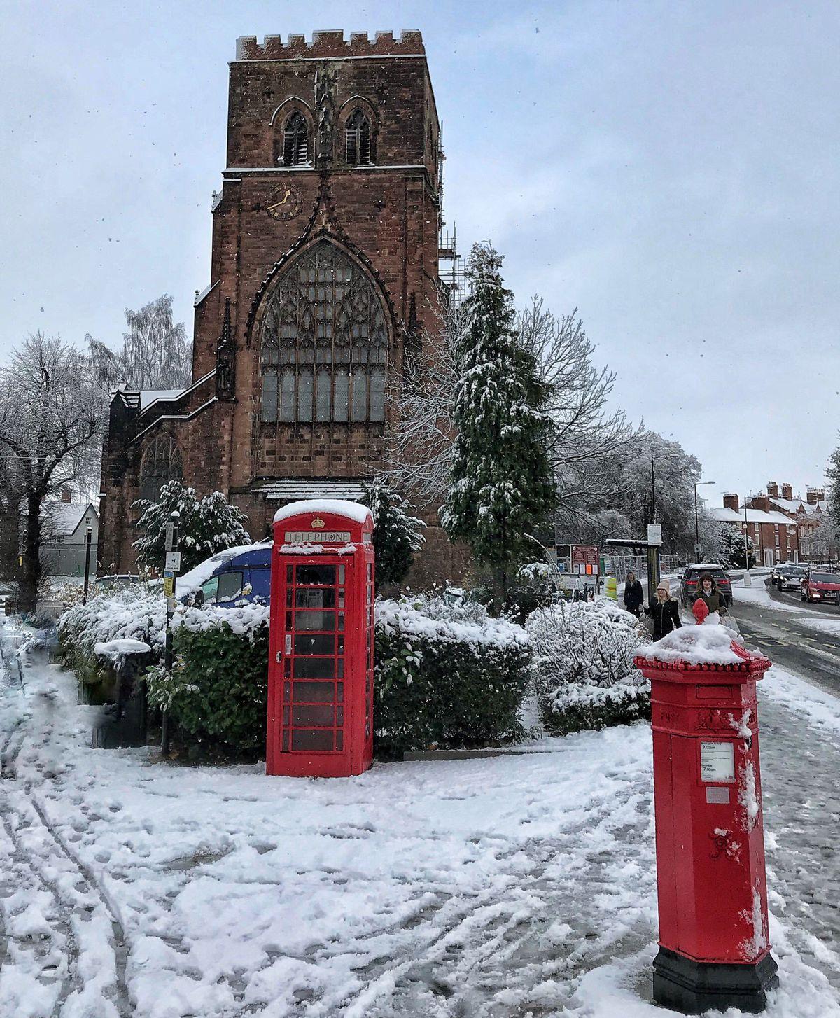 Snow in Shrewsbury. Photo: Lee Roberts.
