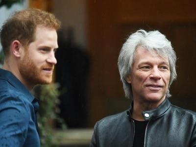 Duke of Sussex joins Jon Bon Jovi at Abbey Road Studios
