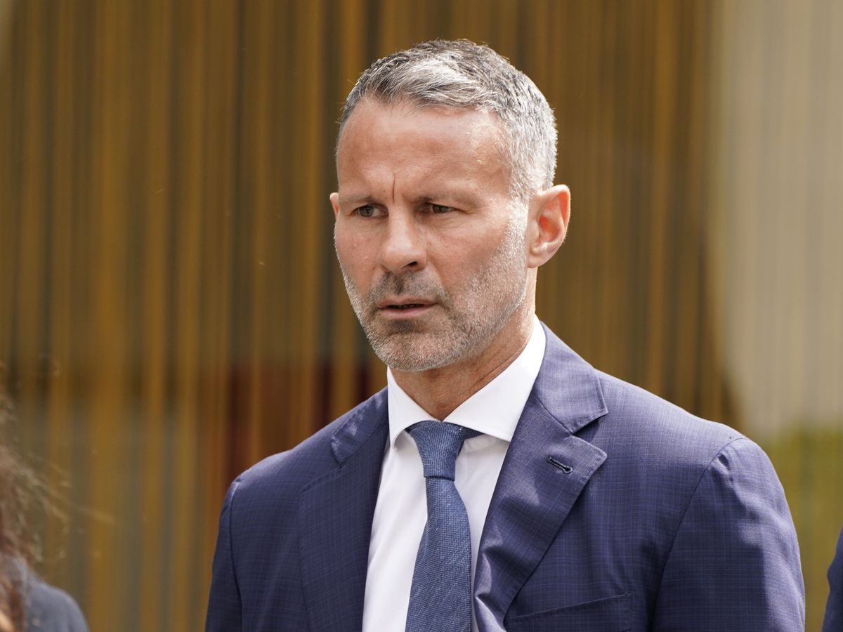 Former Manchester United footballer Ryan Giggs arrives at Manchester Crown Court where he is charged with assaulting two women and controlling or coercive behaviour
