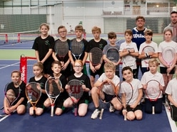 Young players have a smashing time on court