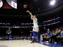 Simmons scores second career three-pointer as 76ers crush Cavaliers