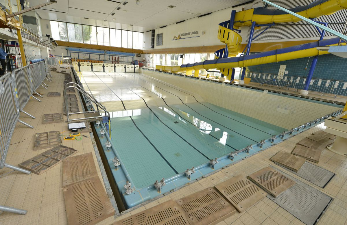 The pool has been closed since a glass panel shattered in December