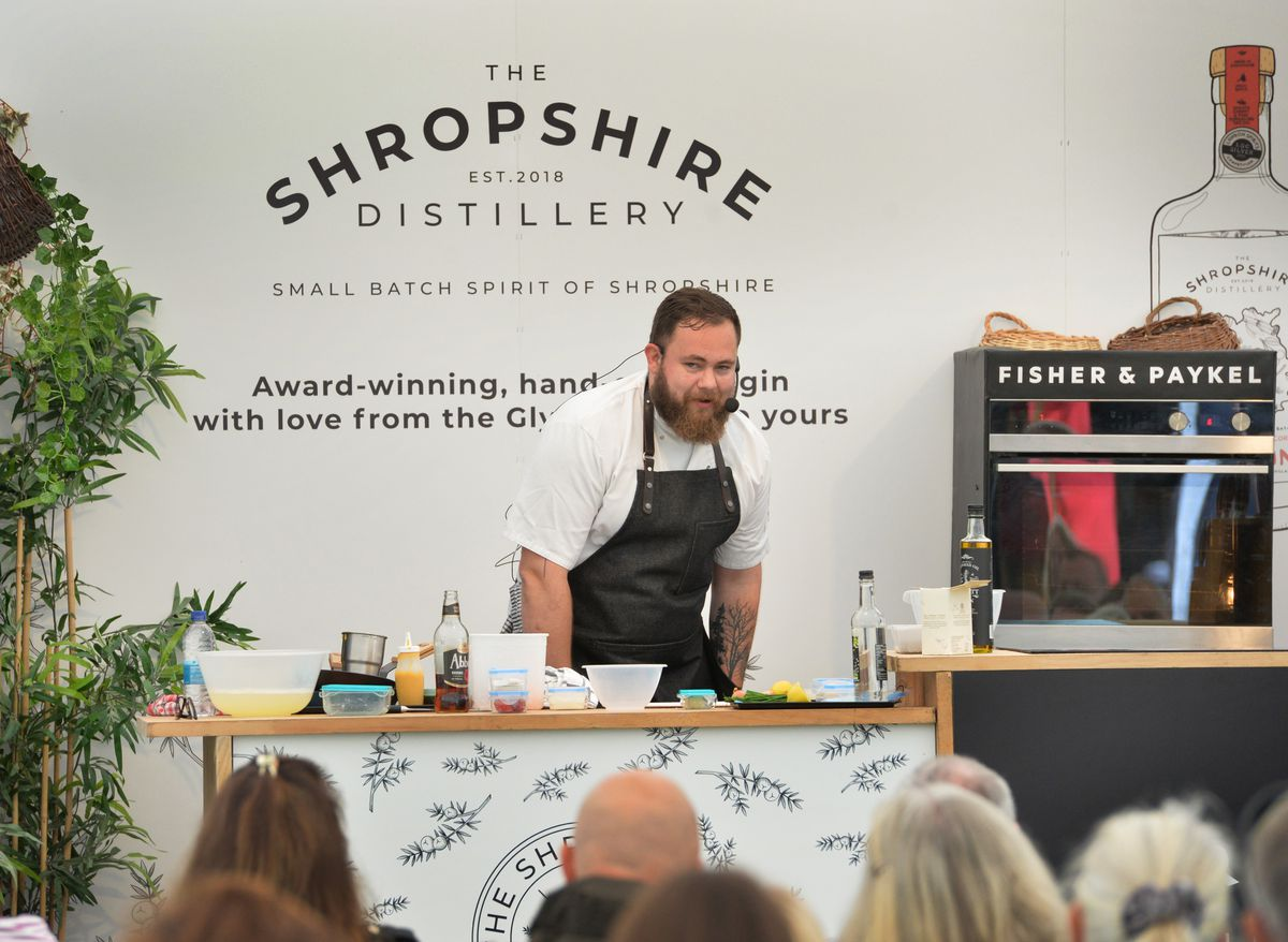 Rob Gibson gives a demonstration during Shrewsbury Food Festival, at The Quarry
