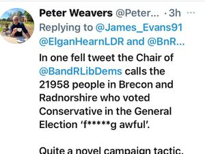 Peter Weavers' Tweet