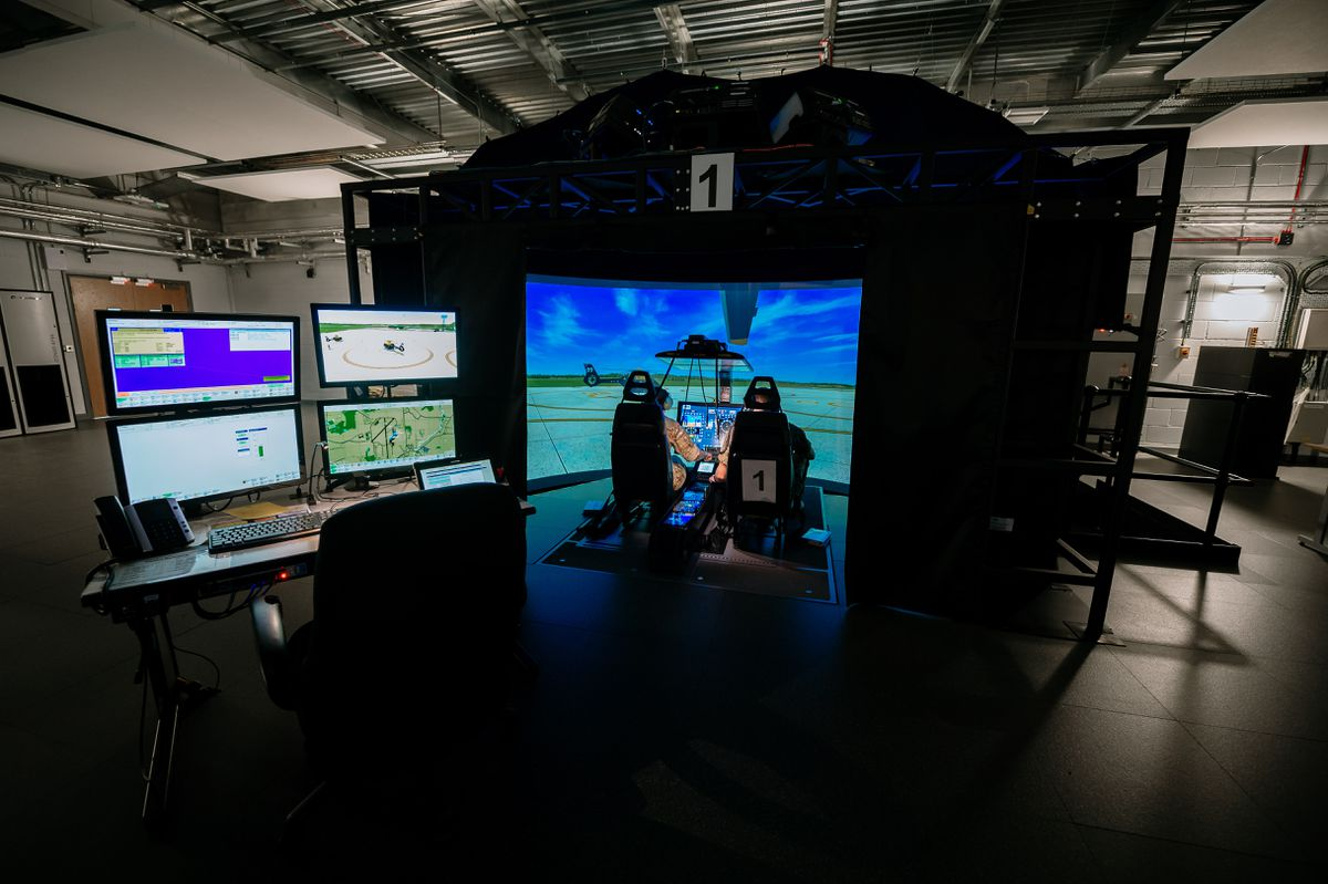 Inside the state-of-the-art command and tactics training facility