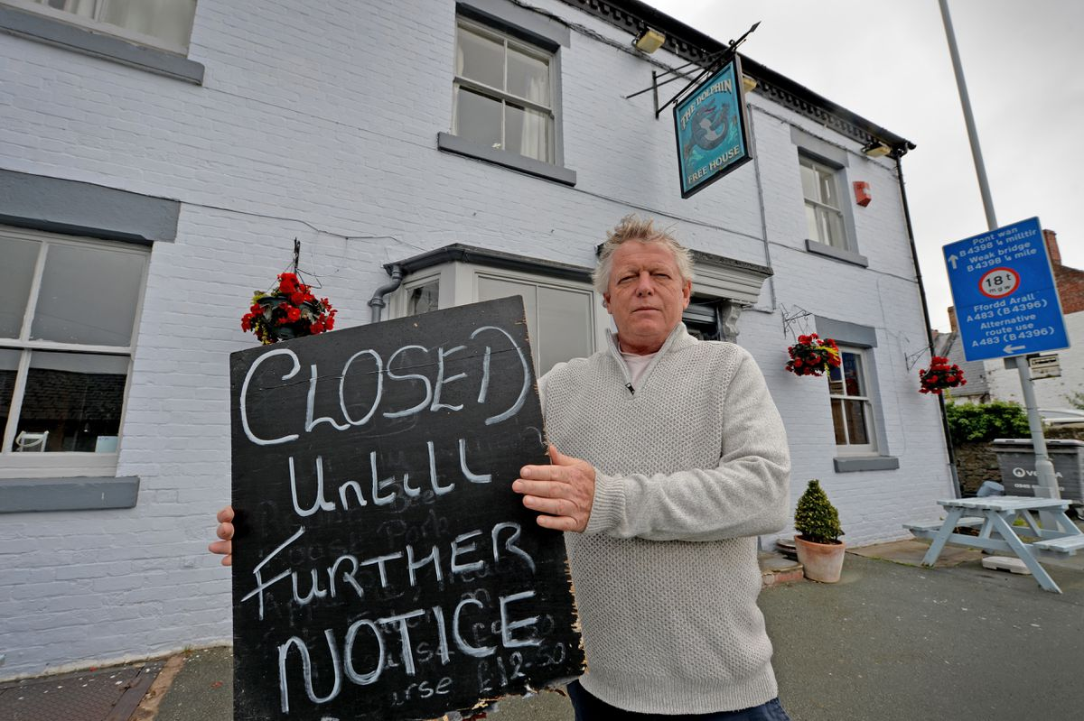 Closed - Landlord John Turner at the Dolphin in Llanymynech