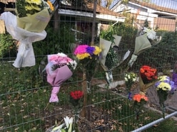 Tributes left at Telford bungalow after tragic blaze