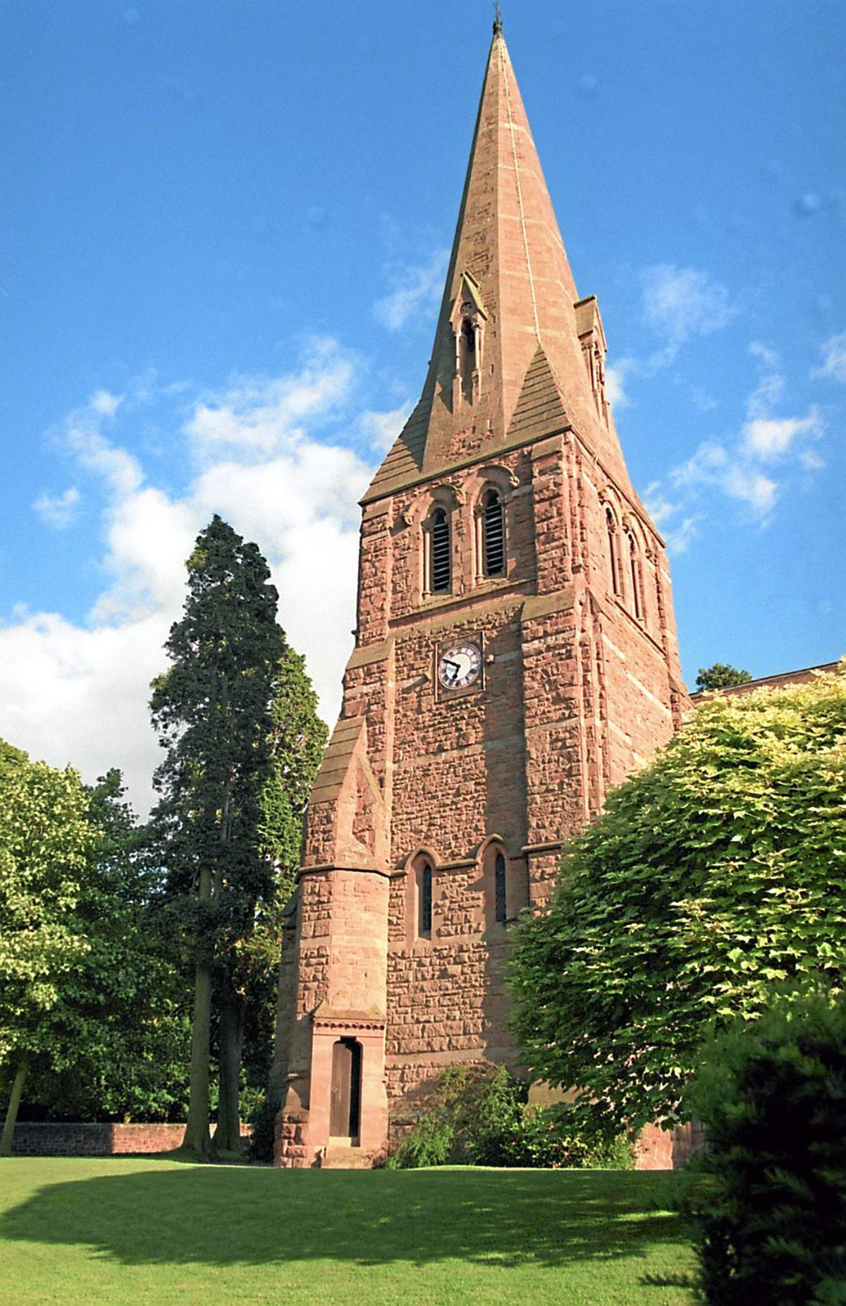 Chetwynd Church, where Miss Parker was buried