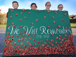 Broseley pupils create artwork of poppies to mark war centenary