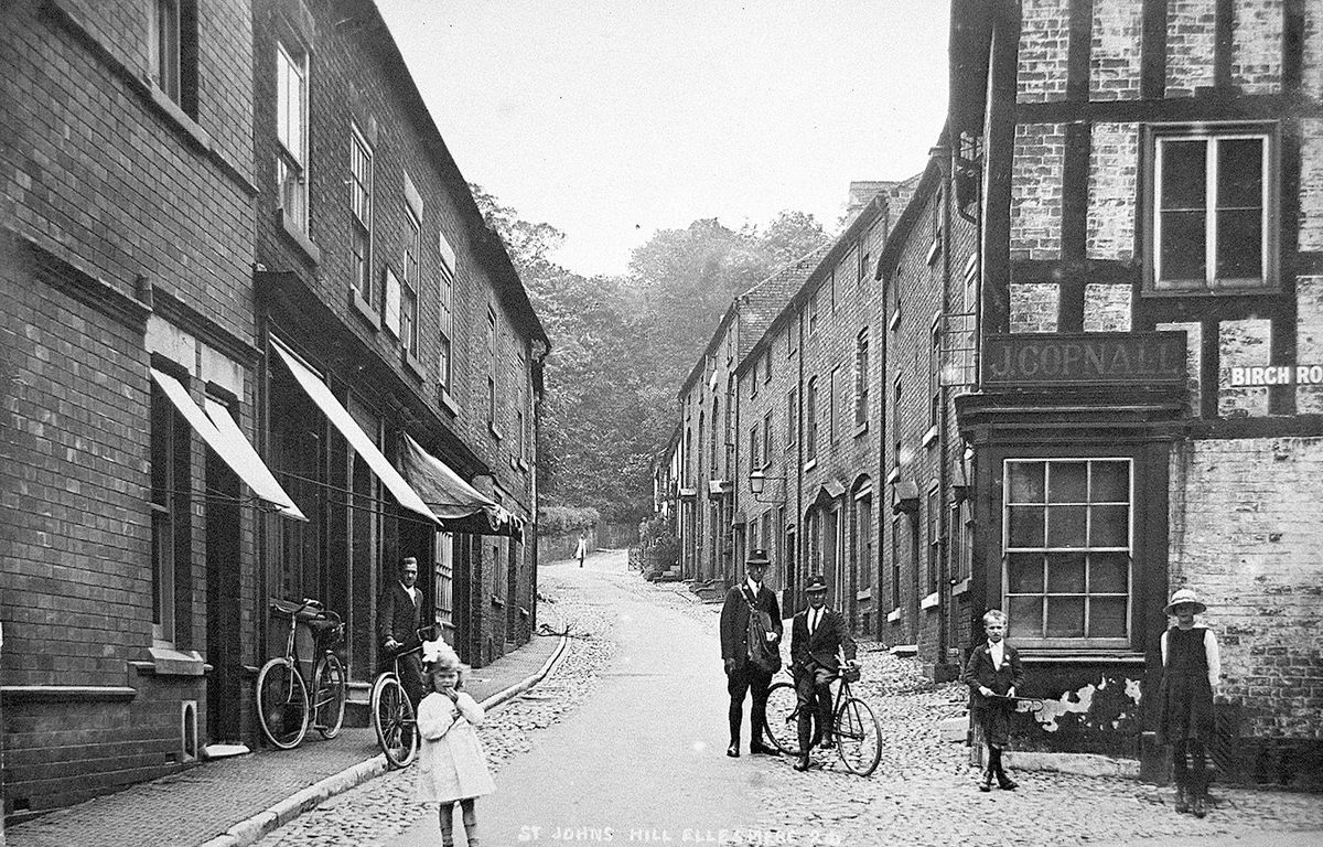 At the time of this early 20th century photo the building housed 'J. Copnall.'