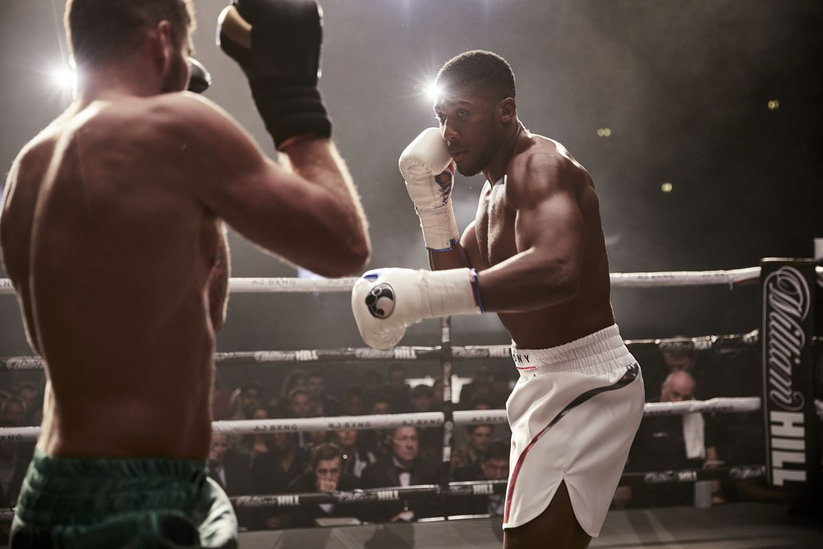 Joe takes on Anthony Joshua in the ring