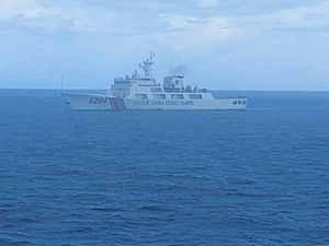 A Chinese coast guard ship