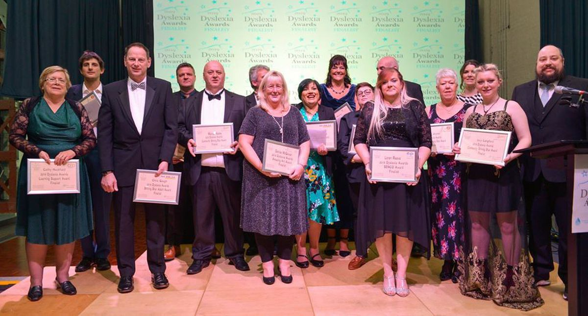 Winners from the Dyslexia Awards. Picture: Michael J Wilkinson