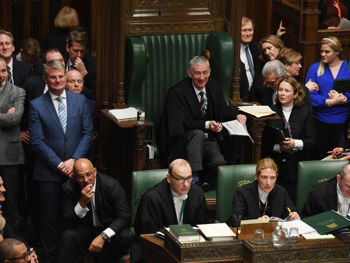 Speaker Lindsay Hoyle during his first Prime Minister's Questions