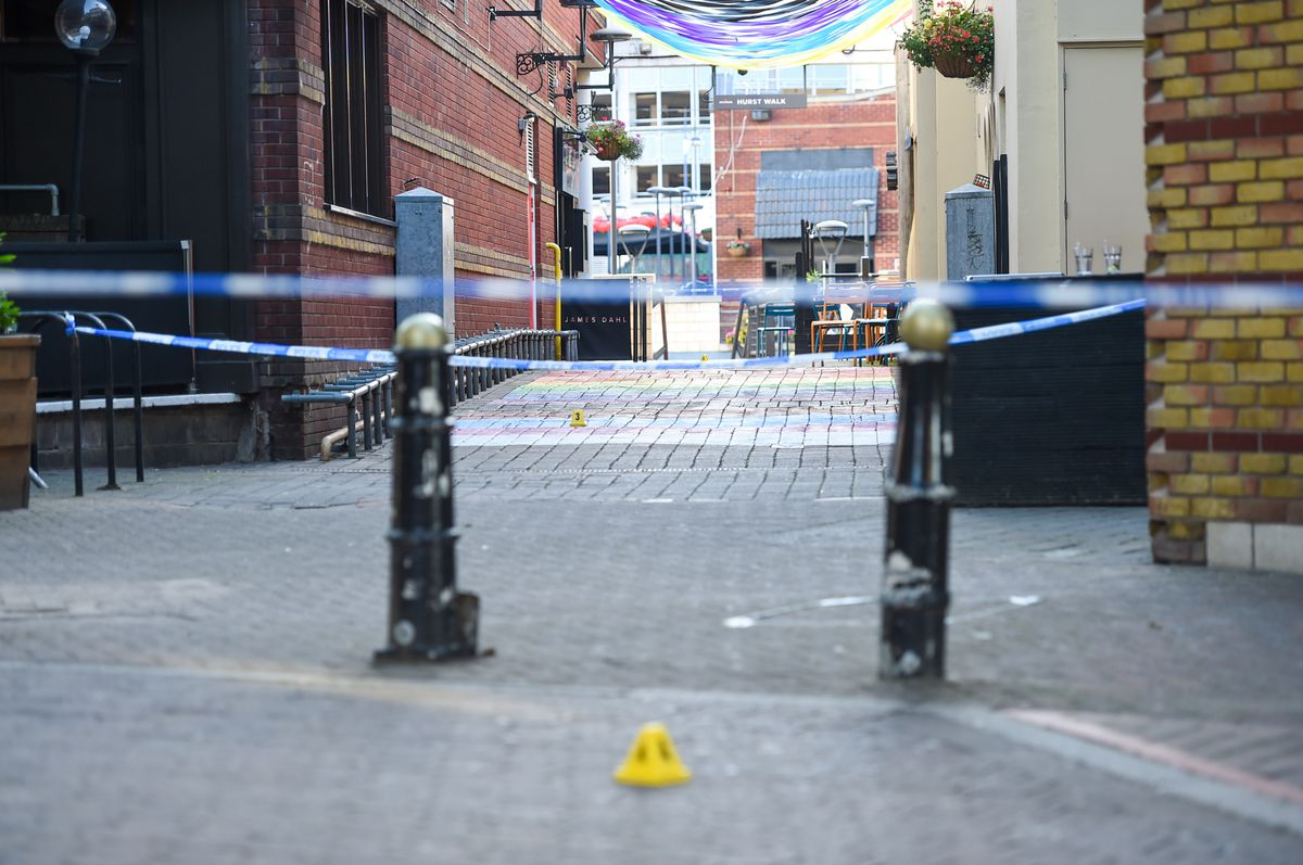 The police cordon in the Arcadian Centre. Photo: SnapperSK