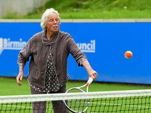 Ann Jones gets back on the court at Edgbaston.