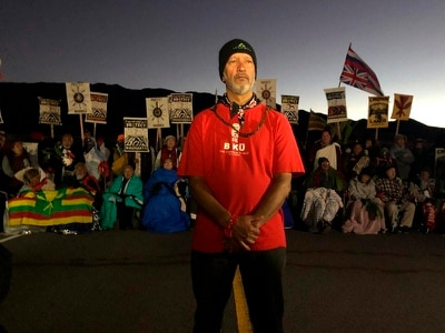 Hawaiian protesters vow 'prolonged struggle' against giant telescope