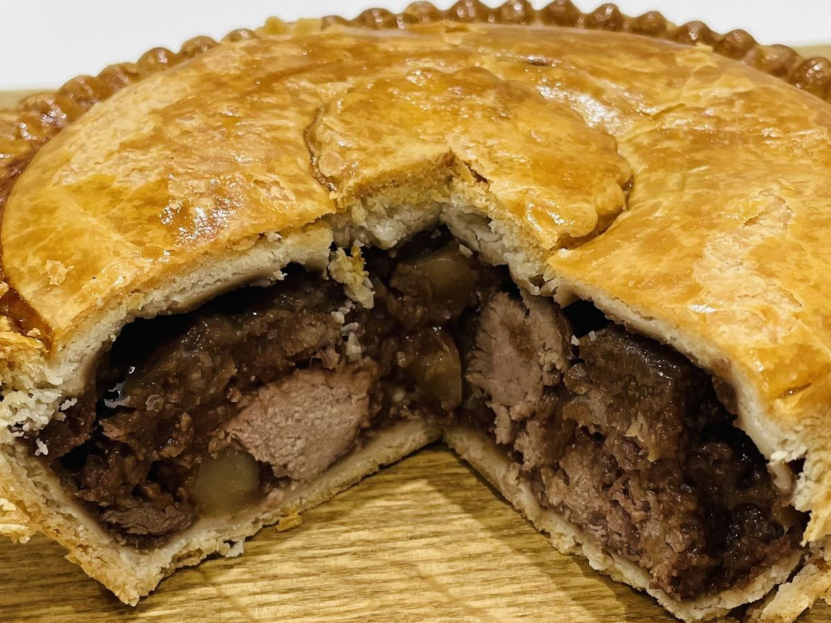 The Supreme Champion of the 2021 British Pie Awards, a Meat and Potato Pie from Nottinghamshire based Bowring Butchers.