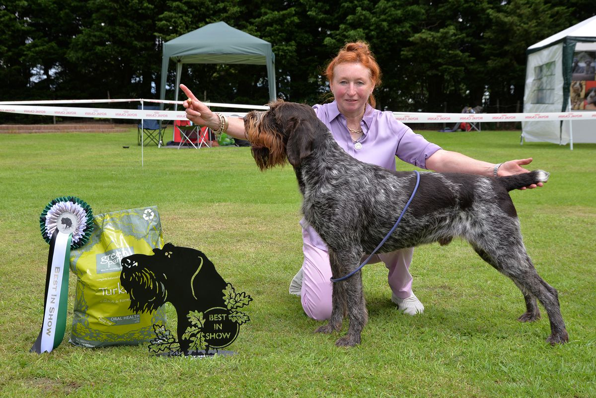 Maxine McCullough with George, who was judged Best in Show
