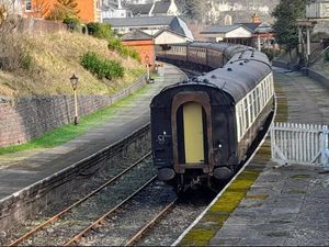 One of the coaches at the Llangollen Railway