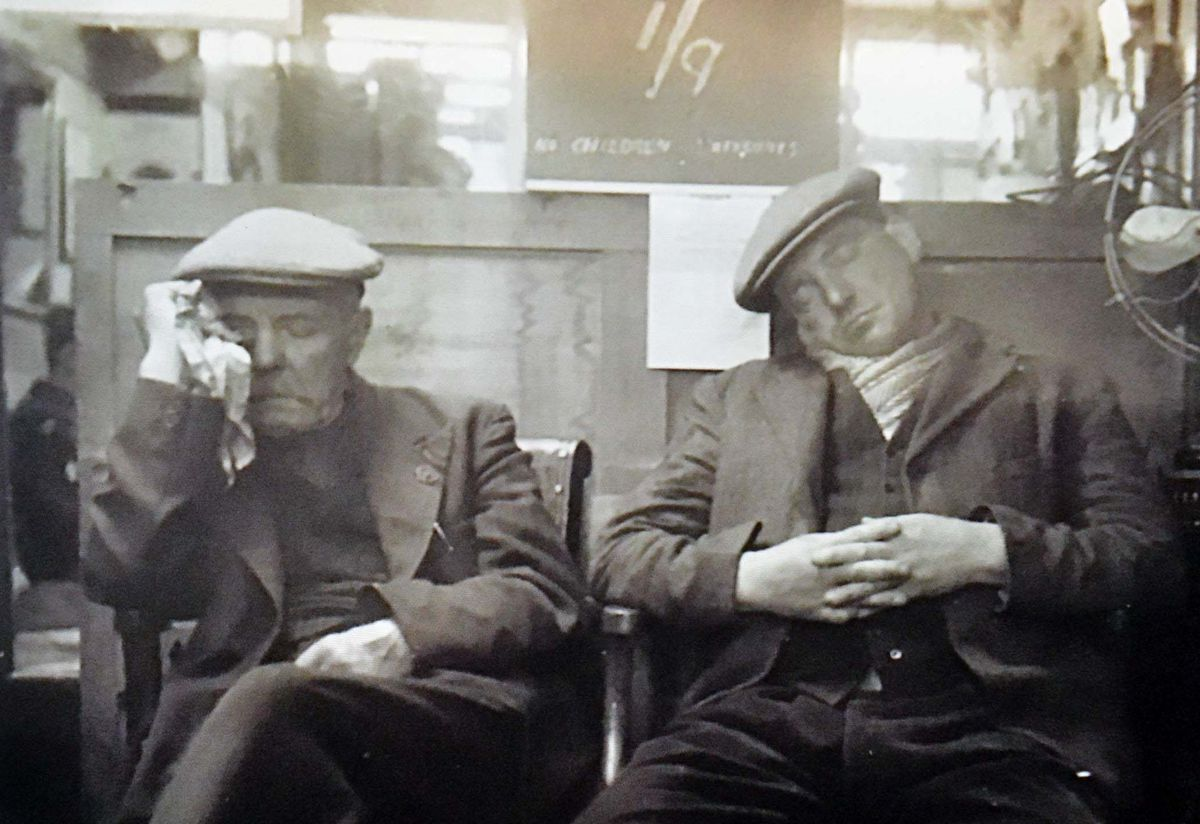 This photo was taken by David's father William Webb when the Shifnal salon was called Bill Webb Barbers