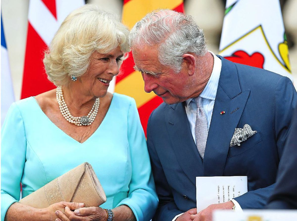 The Prince of Wales with Camilla, his wife of 13 years