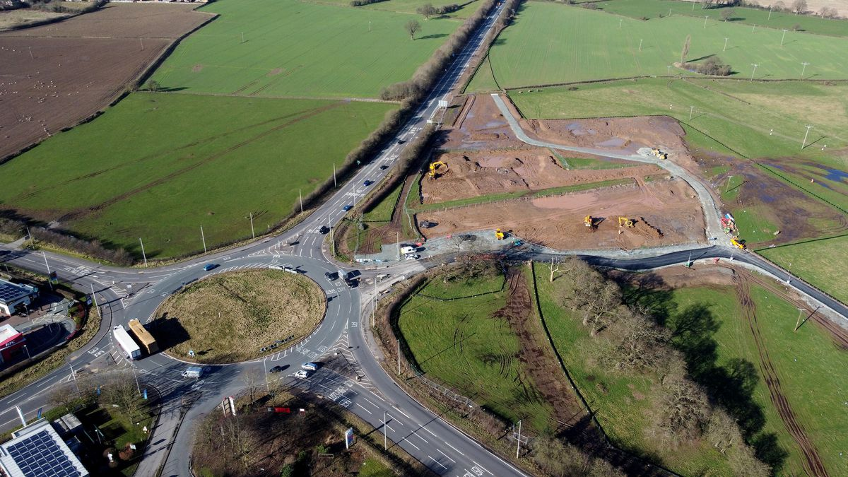 The roundabout in April 2021