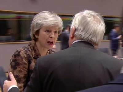 Juncker denies describing May as 'nebulous', after PM confronts him
