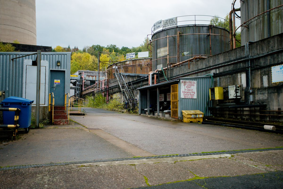 The power station site