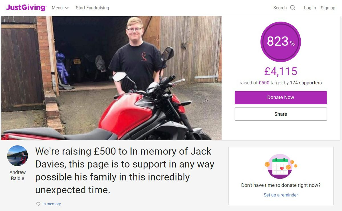The JustGiving page. https://justgiving.com/crowdfunding/jack-davies-crowdfunding