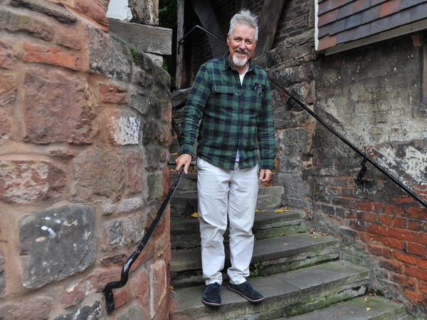 Gryff Rhys Jones speaks out for historic buildings in visit to Shrewsbury