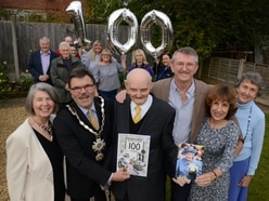 Happy 100th birthday: Civic leaders join celebrations for Shifnal war veteran Les Cherrington - with pictures